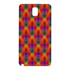Apophysis Fractal Owl Neon Samsung Galaxy Note 3 N9005 Hardshell Back Case by Nexatart