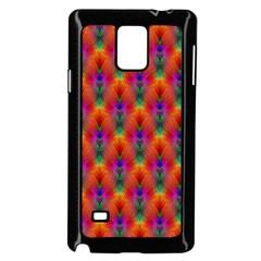 Apophysis Fractal Owl Neon Samsung Galaxy Note 4 Case (black)