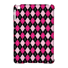 Argyle Pattern Pink Black Apple Ipad Mini Hardshell Case (compatible With Smart Cover)