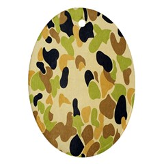 Army Camouflage Pattern Ornament (oval)