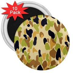 Army Camouflage Pattern 3  Magnets (10 Pack)  by Nexatart
