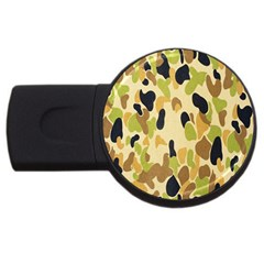 Army Camouflage Pattern Usb Flash Drive Round (2 Gb)