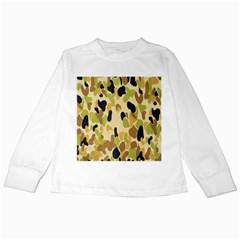 Army Camouflage Pattern Kids Long Sleeve T Shirts by Nexatart