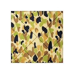 Army Camouflage Pattern Acrylic Tangram Puzzle (4  X 4 ) by Nexatart