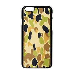 Army Camouflage Pattern Apple Iphone 6/6s Black Enamel Case by Nexatart
