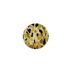 Army Camouflage Pattern 1  Mini Buttons by Nexatart