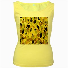 Army Camouflage Pattern Women s Yellow Tank Top