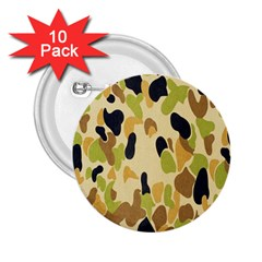 Army Camouflage Pattern 2 25  Buttons (10 Pack)  by Nexatart