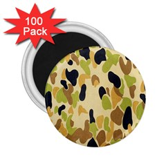 Army Camouflage Pattern 2 25  Magnets (100 Pack)  by Nexatart
