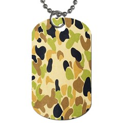 Army Camouflage Pattern Dog Tag (two Sides)