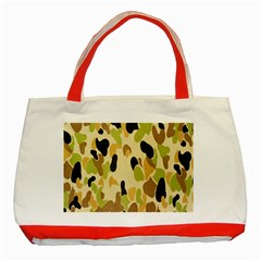 Army Camouflage Pattern Classic Tote Bag (red) by Nexatart
