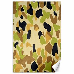 Army Camouflage Pattern Canvas 24  X 36  by Nexatart