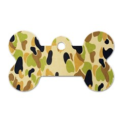 Army Camouflage Pattern Dog Tag Bone (two Sides) by Nexatart