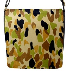 Army Camouflage Pattern Flap Messenger Bag (s)
