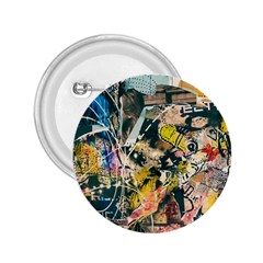 Art Graffiti Abstract Vintage 2 25  Buttons by Nexatart