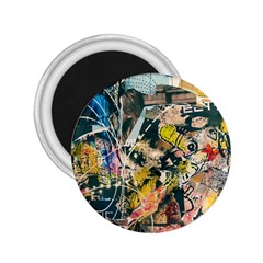 Art Graffiti Abstract Vintage 2 25  Magnets by Nexatart