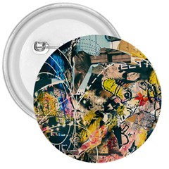 Art Graffiti Abstract Vintage 3  Buttons by Nexatart