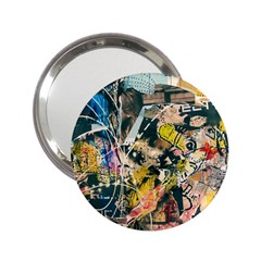 Art Graffiti Abstract Vintage 2 25  Handbag Mirrors by Nexatart