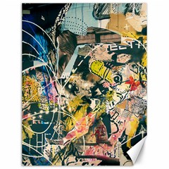 Art Graffiti Abstract Vintage Canvas 12  X 16   by Nexatart