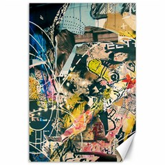 Art Graffiti Abstract Vintage Canvas 24  X 36  by Nexatart