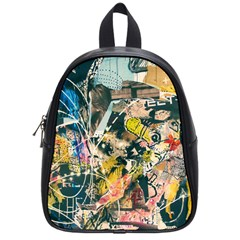 Art Graffiti Abstract Vintage School Bags (small)  by Nexatart