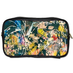 Art Graffiti Abstract Vintage Toiletries Bags 2 Side by Nexatart