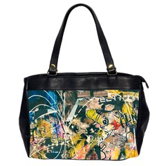 Art Graffiti Abstract Vintage Office Handbags (2 Sides)  by Nexatart