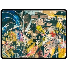 Art Graffiti Abstract Vintage Fleece Blanket (large)