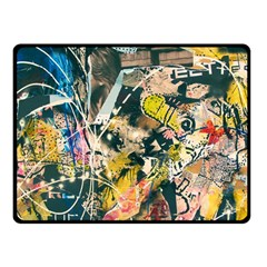 Art Graffiti Abstract Vintage Fleece Blanket (small) by Nexatart