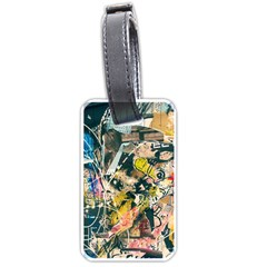 Art Graffiti Abstract Vintage Luggage Tags (two Sides) by Nexatart