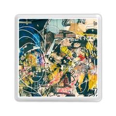 Art Graffiti Abstract Vintage Memory Card Reader (square)  by Nexatart