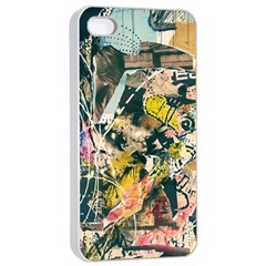 Art Graffiti Abstract Vintage Apple Iphone 4/4s Seamless Case (white) by Nexatart