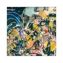 Art Graffiti Abstract Vintage Acrylic Tangram Puzzle (6  X 6 ) by Nexatart