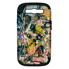 Art Graffiti Abstract Vintage Samsung Galaxy S Iii Hardshell Case (pc+silicone) by Nexatart
