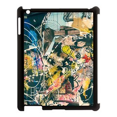 Art Graffiti Abstract Vintage Apple Ipad 3/4 Case (black) by Nexatart