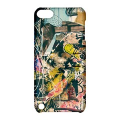 Art Graffiti Abstract Vintage Apple Ipod Touch 5 Hardshell Case With Stand by Nexatart