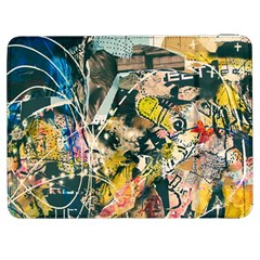 Art Graffiti Abstract Vintage Samsung Galaxy Tab 7  P1000 Flip Case by Nexatart