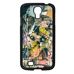 Art Graffiti Abstract Vintage Samsung Galaxy S4 I9500/ I9505 Case (black) by Nexatart