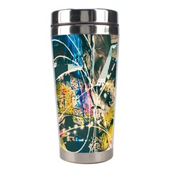 Art Graffiti Abstract Vintage Stainless Steel Travel Tumblers by Nexatart