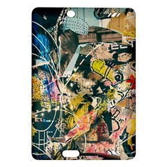 Art Graffiti Abstract Vintage Amazon Kindle Fire Hd (2013) Hardshell Case by Nexatart