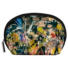 Art Graffiti Abstract Vintage Accessory Pouches (large)  by Nexatart