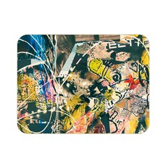 Art Graffiti Abstract Vintage Double Sided Flano Blanket (mini)  by Nexatart