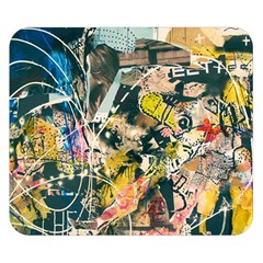 Art Graffiti Abstract Vintage Double Sided Flano Blanket (small)