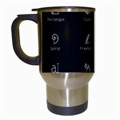 Art Desktop Icons Vector Clipart Travel Mugs (white)