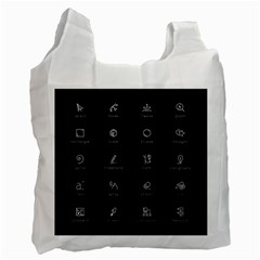 Art Desktop Icons Vector Clipart Recycle Bag (one Side)