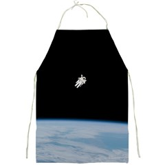 Astronaut Floating Above The Blue Planet Full Print Aprons