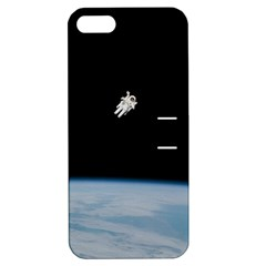 Astronaut Floating Above The Blue Planet Apple Iphone 5 Hardshell Case With Stand