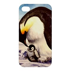 Emperor Penguin Apple Iphone 4/4s Hardshell Case by ArtByThree