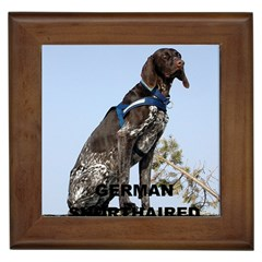German Shorthair Pointer Love W Pic Framed Tiles by TailWags
