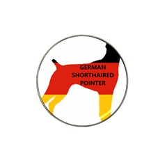 German Shorthaired Pointer Flag Silo Name Germany Flag Hat Clip Ball Marker by TailWags